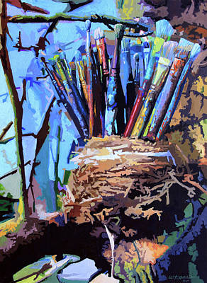 Painting - Art In A Nest by John Lautermilch