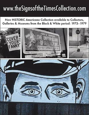 Art In America Ad Art Print by Signs Signs of the Times Collection
