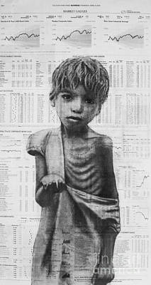 Drawing - Inequality- Art In The News 57 by Michael Cross
