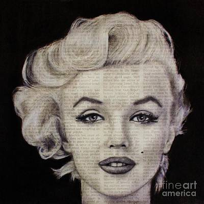 Drawing - Art In The News 97-marilyn Monroe by Michael Cross