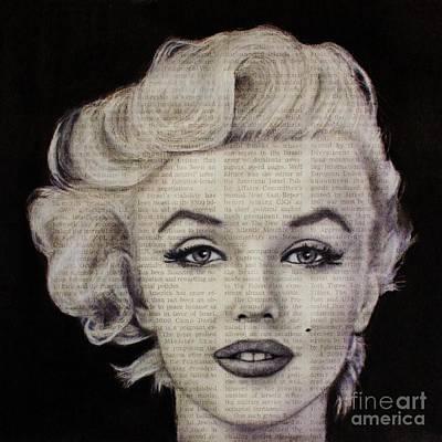 Drawing - Art In The News 97-marilyn Monroe by Michael Cross