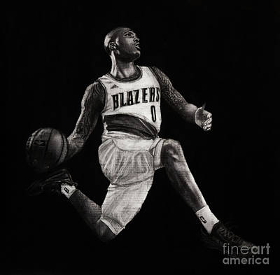 Drawing - Art In The News- Lillard by Michael Cross