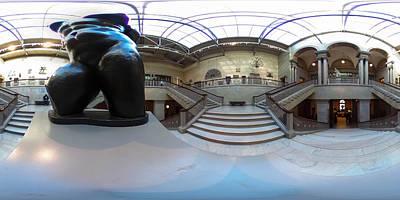 360 Wall Art - Photograph - Art Institute Entry Panoramic by Britten Adams