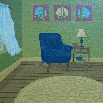 Bamboo Chair Painting - Art Is Life by Allison Kuehn