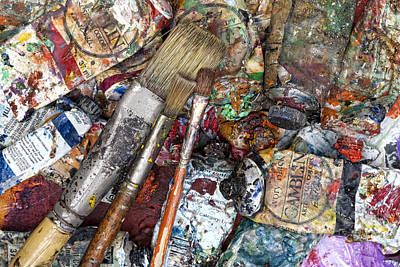 Photograph - Art Is Messy 5 by Carol Leigh