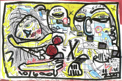 Neo Expressionism Mixed Media - Art Is My Bliss by Robert Wolverton Jr