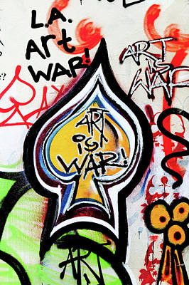 Social Movements Photograph - Art Is War by Art Block Collections
