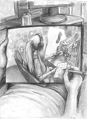 James Parker Drawing - Art Life by James Parker