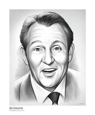 Drawing - Art Linkletter by Greg Joens