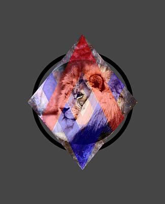 Cool Lion Digital Art - Art Lion by Michelle Murphy