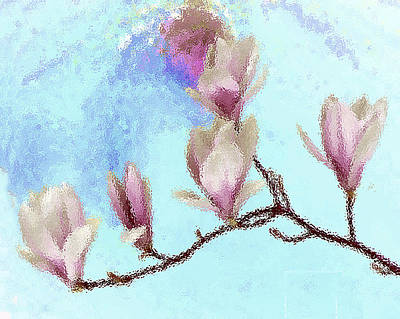 Photograph - Art Magnolia by Roger Bester