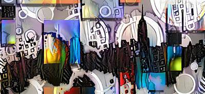 Surrealism Digital Art - Art Manhattan by Bruce Rolff