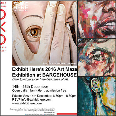 Painter Mixed Media - Art Maze Exhibition, London by Christel Roelandt