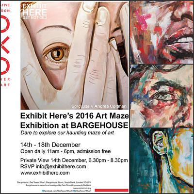 Art Maze Exhibition, London Art Print by Christel Roelandt