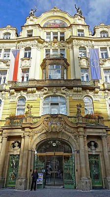 Photograph - Art Nouveau Architecture In Prague by Richard Rosenshein