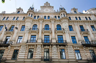 Photograph - Art Nouveau Building Alberta Ilea 13 In Riga by RicardMN Photography