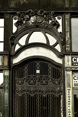 Budapest Photograph - Art Nouveau Door Budapest by Sharon Popek
