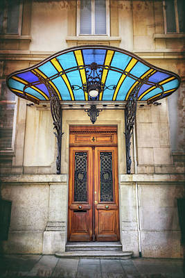 Photograph - Art Nouveau Door Geneva Switzerland  by Carol Japp