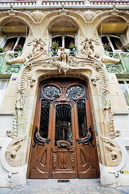 Photograph - Art Nouveau Doors - Paris, France by Melanie Alexandra Price
