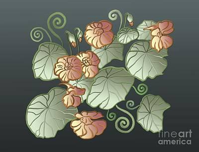 Painting - Art Nouveau Garden by Ivana Westin
