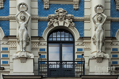 Baltic Amber Photograph - Art Nouveau In Riga by Christian Hallweger