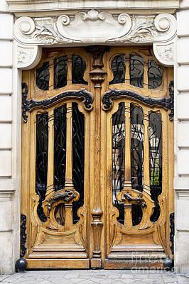 Art Nouveau Paris Door Art Print by Ivy Ho
