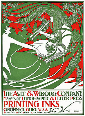 Ohio Painting - Art Nouveau Poster Depicting Pan, 1895 by William Bradley
