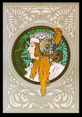 Art Nouveau Profile 1895 Art Print