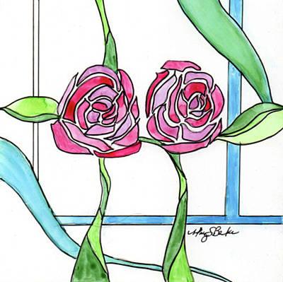 Art Nouveau Roses 3 Original by Mary Benke