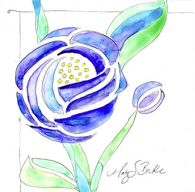 Art Nouveau Roses II Original by Mary Benke