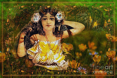 Digital Art - Art Nouveau Spring 2016 by Kathryn Strick
