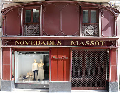 Photograph - Art Nouveau Storefront 2 by Andrew Fare