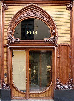 Photograph - Art Nouveau Storefront by Andrew Fare