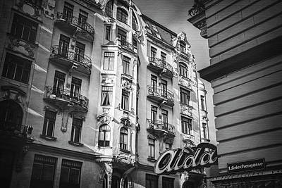 Photograph - Art Nouveau Vienna In Black And White  by Carol Japp