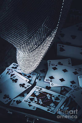 Playing Cards Photograph - Art Of A Betting Man  by Jorgo Photography - Wall Art Gallery