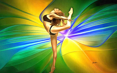 Ballet Dancers Digital Art - Art Of  Dance by Anthony Caruso
