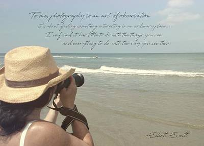 Photograph - Art Of Observation Quote by Jamart Photography