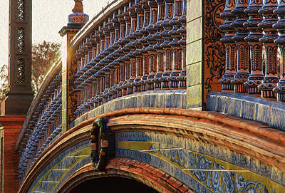 Painting - Art Of Plaza De Espana, Seville - 3 by Andrea Mazzocchetti