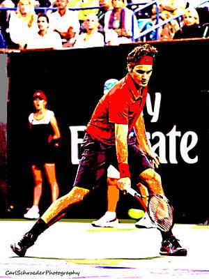 Federer Photograph - Art Of Tennis by Carl Schroeder III