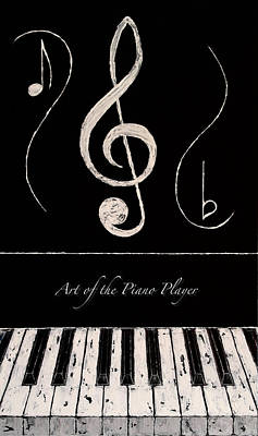 Art Of The Piano Player Art Print by Wayne Cantrell