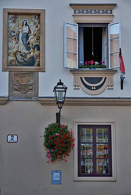 Photograph - Art On A Facade - Zagreb Croatia by Stuart Litoff
