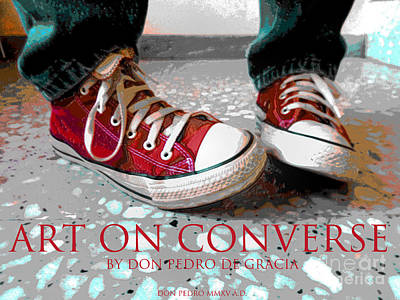 Converse Shoe Digital Art - Art On Converse by Don Pedro De Gracia