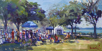 Riverwalk Painting - Art On The Riverwalk At Niawanda Park by Ylli Haruni