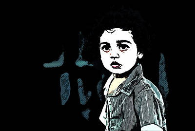 Crying Painting - Art - Out Cry Of A Syrian Boy by Asar Studios