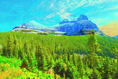 Digital Art - Art Photograph Of A Mountain View From The Going To The Sun Road by Rusty R Smith