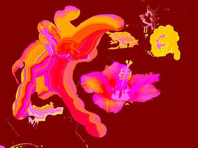 Digital Art - Art Play Hibiscus 1 by The MUSEUM Artist Series jGibney