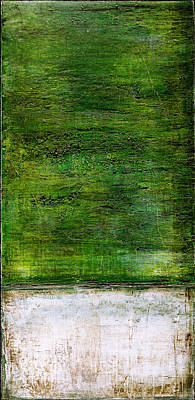 Painting - Art Print Green White by Harry Gruenert
