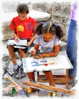Photograph - Art Students by Dawn Currie