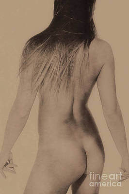 Photograph - Art Style Nude Body In Motion #9105h by William Langeveld