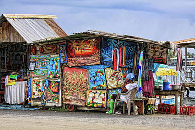 Photograph - Art Vendor In Bocas Del Toro, Panama by Tatiana Travelways